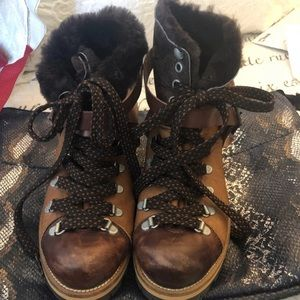 NEW Goat Hair Free People Leather Boots